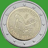 Эстония 2 евро 2021 г. Финно-угорские народы . UNC