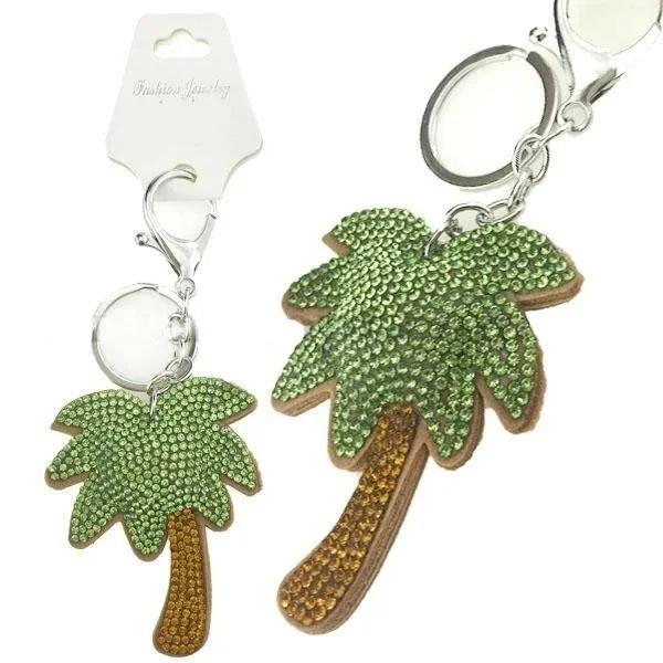 Брелок для ключів подарунковий зі стразами Пальма