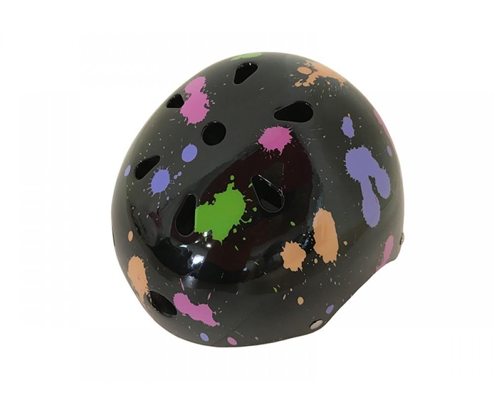 Шлем детский черный цветной Calibri FSK-503L