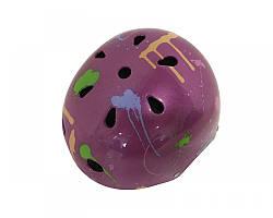 Шолом дитячий фіолетовий кольоровий Calibri FSK-503L