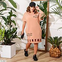 Молодіжне плаття жіноче оригінальна ефектна по коліно на літо великі розміри р-ри 50-60 арт. 717