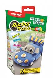 Дитячий набір для ліплення з пластиліну Super Dough Racing time Машинка (синя), інерційний механізм, Паулинда