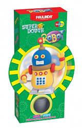 Дитячий набір для ліплення з пластиліну Super Dough Робот, заводний механізм (жовтий), Паулинда