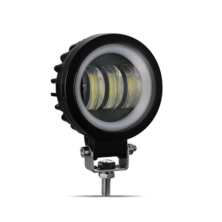 Фара светодиодная LED противотуманная круглая 30W + LED кольцо с четкой световой границей