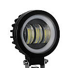 Фара светодиодная LED противотуманная круглая 30W + LED кольцо с четкой световой границей, фото 2
