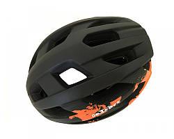 Велошолом чорно-помаранчевий Calibri Y53