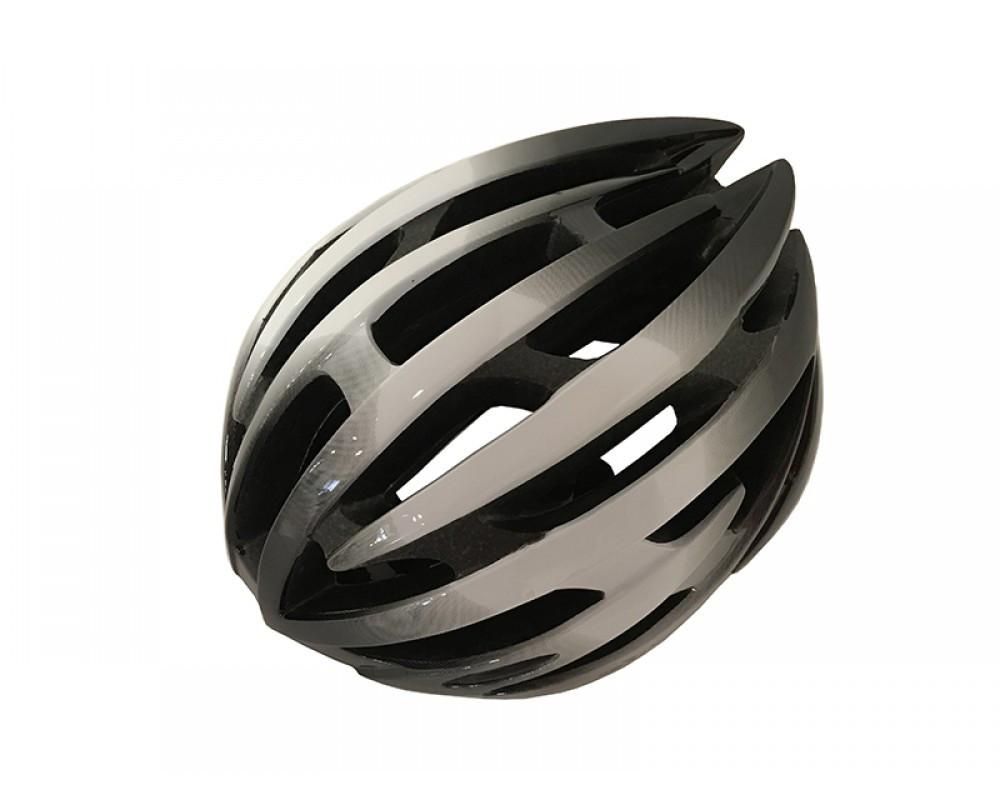 Велошлем черно-белый Calibri  TX97