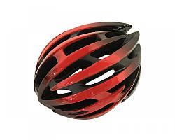 Велошолом чорно-червоний Calibri TX97
