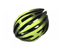 Велошолом чорно-салатовий Calibri TX97