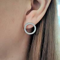 Сережки - вкрутки срібні Айрін, фото 1