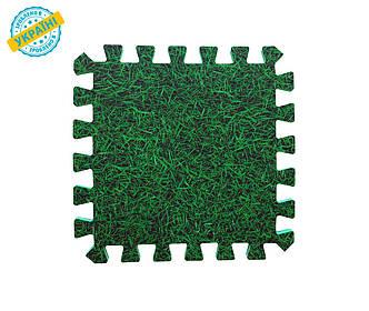 """М'яка підлога (килимок-пазл 30*30*1 см) Eva-Line """"Трава"""""""