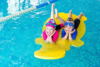 Матрас для плавания (плот, мат для плавания) EVA-LINE Бегемотик1400*700*30 мм
