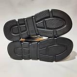 36,37 р. Жіночі сандалі, босоніжки натуральна шкіра на плоскій підошві на липучці Остання пара, фото 8