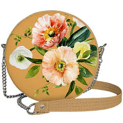 Сумка кругла жіноча Tablet Beautiful flowers (RS_21M017_OR)