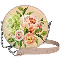 Сумка кругла жіноча Tablet Flowers bouquet (RS_21M020_PUD)