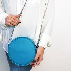 Сумка кругла жіноча Tablet блакитна (RS1_GOL)