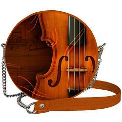 Сумка кругла жіноча Tablet Скрипка (RS_MUS001_BR)