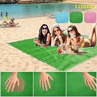 Подстилка пляжная на море анти-песок 150см*200см пляжный коврик, подстилка антипесок разные цвета