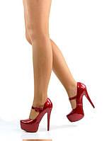 Туфли красные лак на шпильке 35, 39