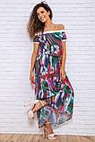 Сукня 167R1-7 колір Разноцвет, фото 2