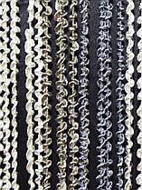 Шторы нити Спираль Радуга 3х3 Молочный Бежевый Графитовый