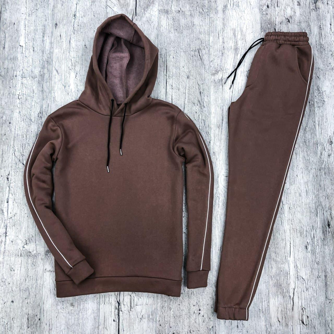 Костюм мужской спортивный теплый коричневый