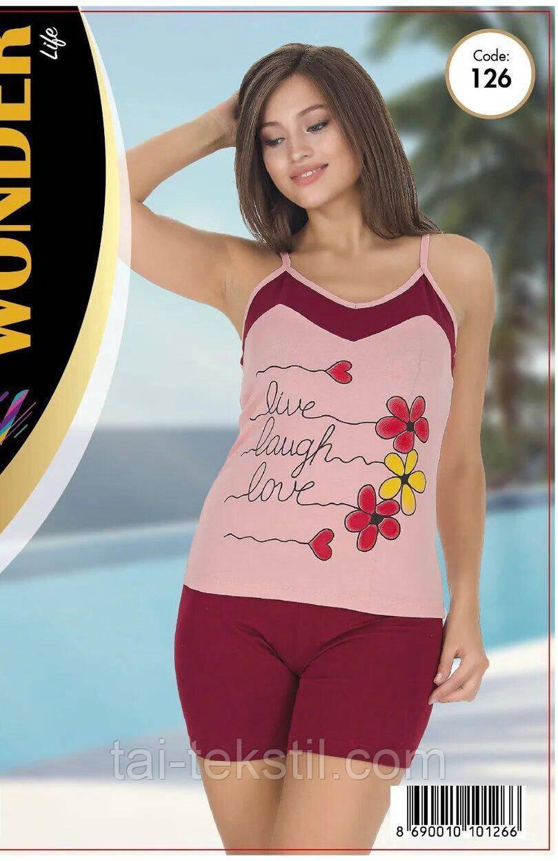 Комплект майка с шортами качество хлопок с лайкрой т.м NEW ANGEL № 126