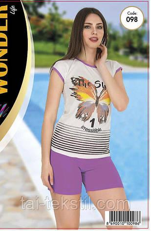 Домашний комплект футболка с шортами качество хлопок с лайкрой т.м NEW ANGEL № 098, фото 2
