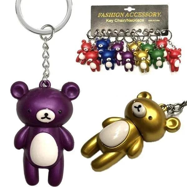 Брелок детский для ключей Мишка набор 12 шт