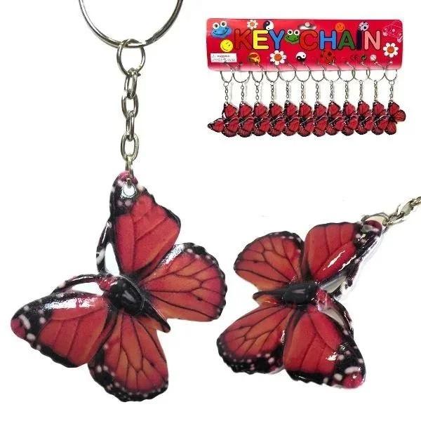 Брелок для ключів Метелик червона набір 12 шт