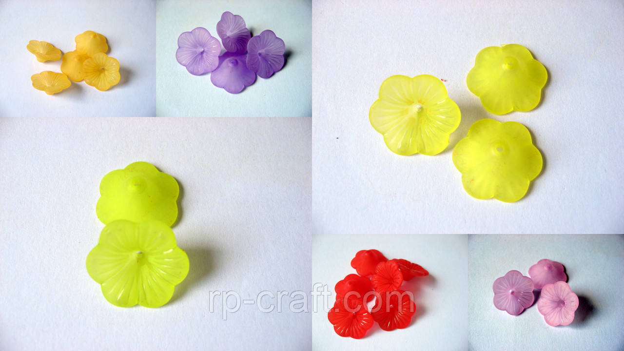 Квітка акрилова, 8х21х21 мм