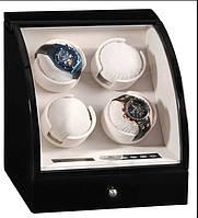 Шкатулка для автоподзавода 4-х часов Rothenschild RS-324-4-B с LCD дисплеем