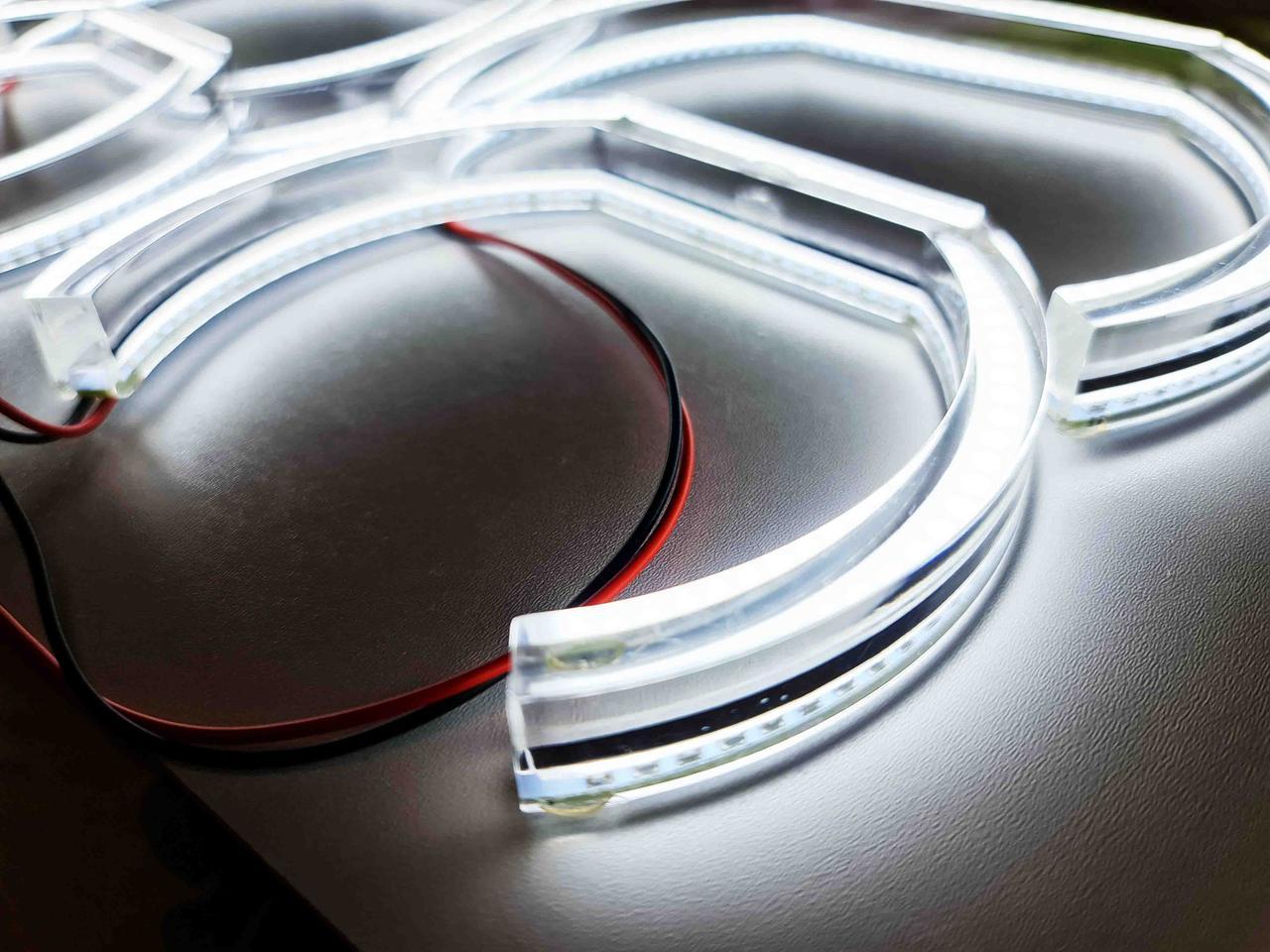 Ангельские глазки (кольца подсветки) LED crystal для BMW E53