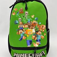 Дошкольный рюкзак для ребёнка Майнкрафт-2 стильный современный городской