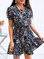 Женское летнее платье в цветочек новинка 2021