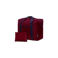 Дорожня сумка для ручної поклажі Coverbag бордо 40*25*20 см RyanAir