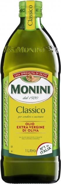 Натуральное оливковое масло первого холодного отжима Monini Classico Extra Vergine, 1л Италия
