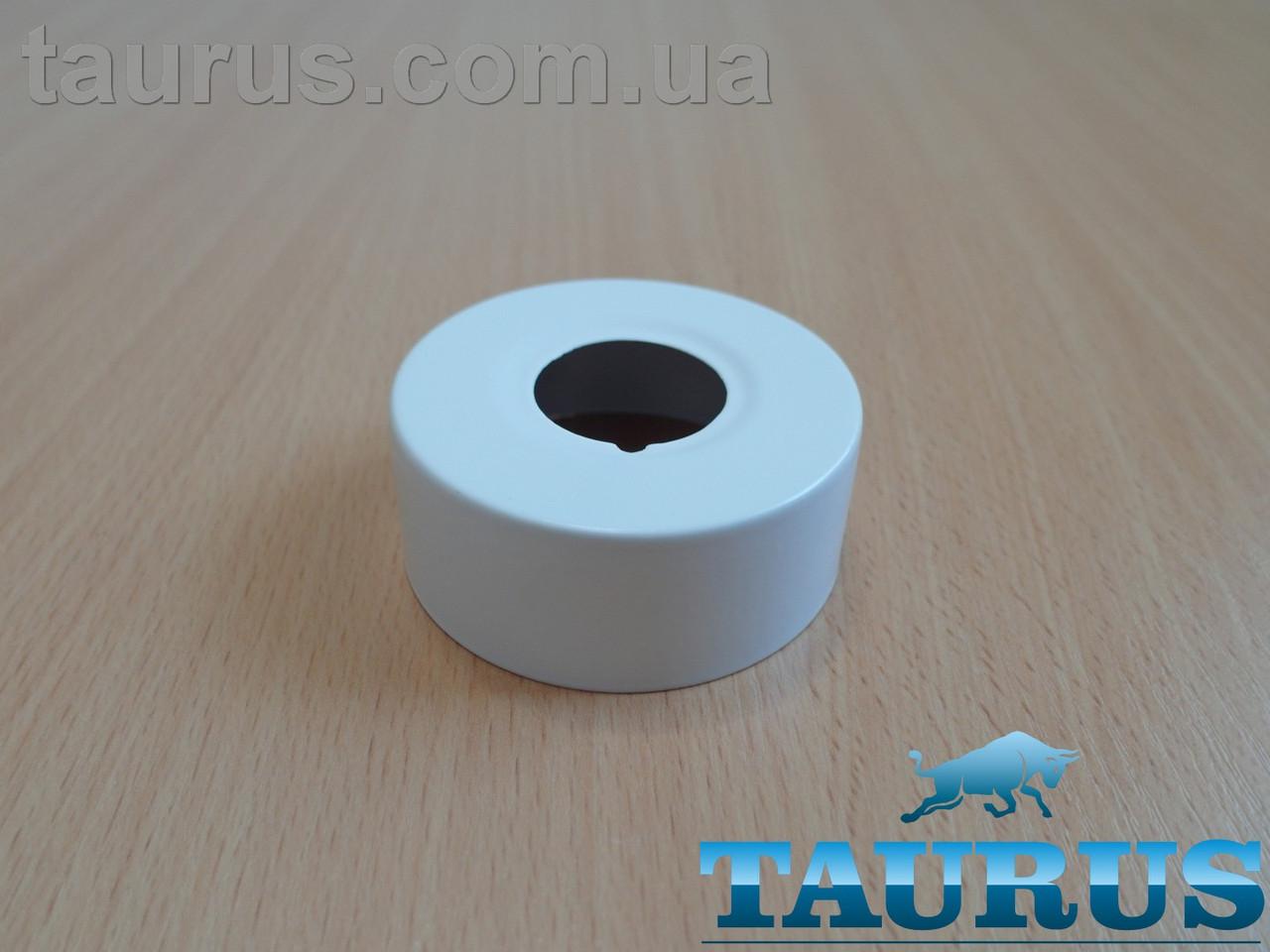 """Белый высокий плоский декор фланец ThermoPulse White D62 / высота 25 мм, внутренний размер 3/4"""" (d26мм)"""