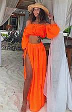 Пляжный шифоновый костюм размер универсал S/M/L(фит-с 395)