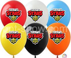 """Латексные воздушные шары с рисунком Brawl Stars ассорти 12"""" (30 см) 10 шт"""