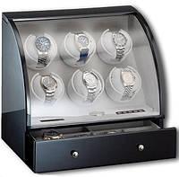 Шкатулка для автоподзавода 6-ти часов Rothenschild RS-326-6-B с LCD дисплеем
