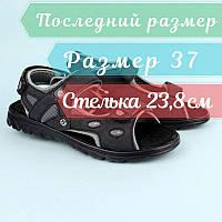 Чорні босоніжки, підліткові сандалі на хлопчика підлітка тм Томм р.37,38, фото 1