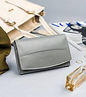 Жіночий шкіряний гаманець Badura з RFID 9,5 х 16 х 3 (PO_D112SZ_CE) - сірий, фото 1