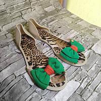 Жіночі босоніжки туфлі літні шльопанці силіконові бежеві з бантом Zoom, розміри 35,36,38,39,40