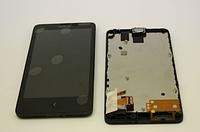Оригинальный дисплей (модуль) + тачскрин (сенсор) с рамкой для Nokia X RM980
