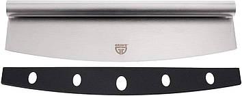 Современный нож - резак для пиццы Gräwe 35 см матовая нержавеющая сталь