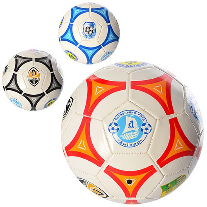 Мяч футбольный EV-3164 2 вида (клубы), ПВХ, Размер 5