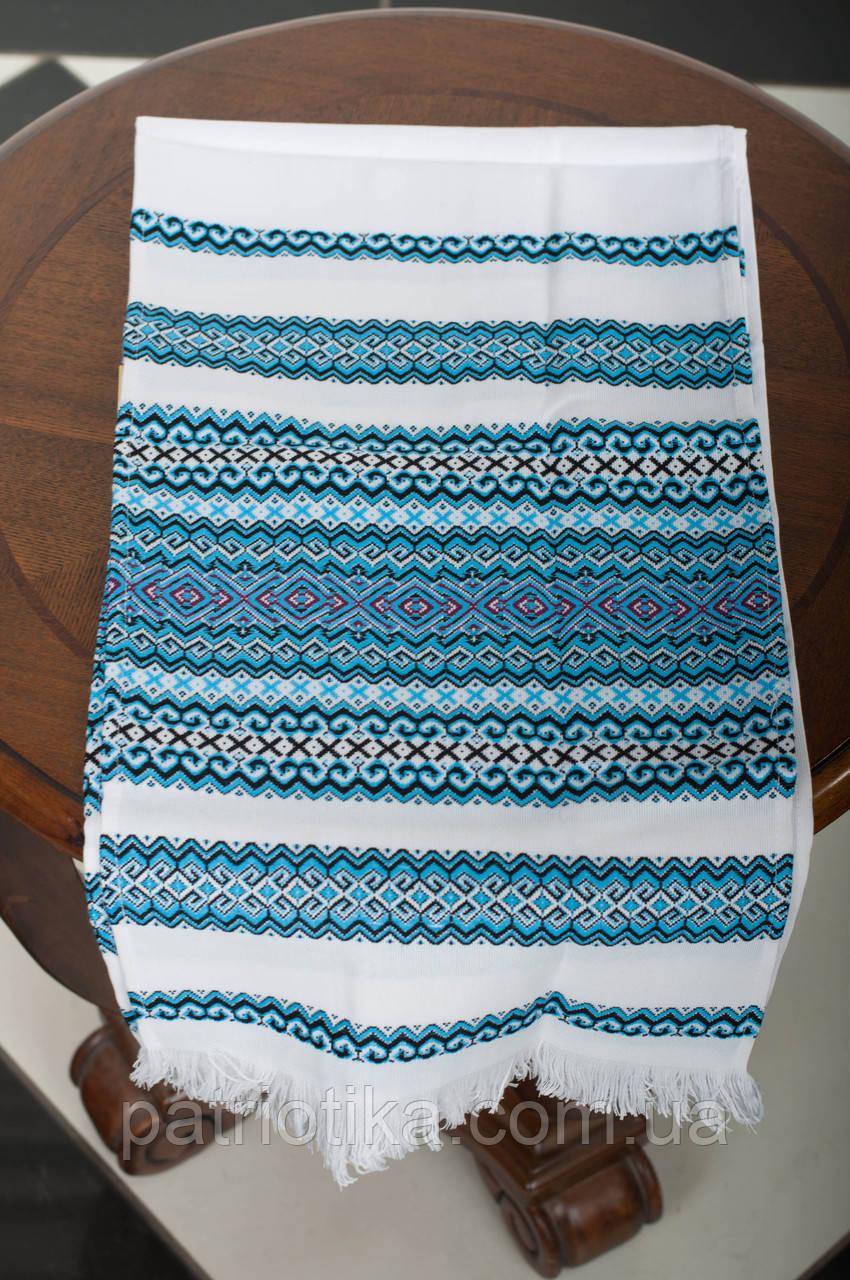 Рушник обрядовый голубой | Рушник обрядовий блакитний 2,4 м