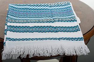 Рушник обрядовый голубой | Рушник обрядовий блакитний 2,4 м, фото 2