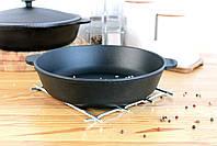 Сковорода чугунная без ручки, ЖАРОВНЯ, 280х60 мм, фото 7